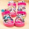 รองเท้าสุนัข รองเท้าแมว แบบผ้าใบ สีชมพู (4 ข้าง)