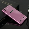 เคส Lenovo A6000/A6010 l เคสฝาหลัง + Bumper ขอบกันกระแทก สีชมพู