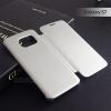 เคส Samsung Galaxy S7 เคสฝาพับ ฝาหน้าแบบทึบ สีเงิน