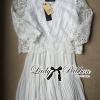Lady Ribbon's Made Lady Melinda Classic White Lace Pleated Dress