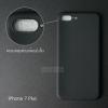 เคส iPhone 7 Plus และ 8 Plus เคสนิ่ม TPU (ผิวด้าน) สีเรียบ (ครอบคลุมส่วนกล้องยิ่งขึ้น) สีดำ