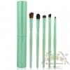 แปรงแต่งตา ขนอ่อนนุ่ม สไตล์เกาหลี Make Up For You Eye shadow brush tool suite portable makeup brush sets แปรงแต่งตา - Green (5 ชิ้น)
