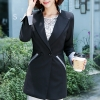 เสื้อสูทแฟชั่น เสื้อสูททำงาน เสื้อสูทผู้หญิง พร้อมส่ง เสื้อสูทสีดำ เนื้อผ้าโพลีเอสเตอร์ คอตตอน 100 % คุณภาพดี