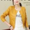 เสื้อแจ็คเก็ตหนัง เสื้อหนังแฟชั่น พร้อมส่ง สีเหลือง ตัวสั้น หนังPU งานสวยเหมือนแบบแน่นอนค่ะ แขนยาว มีซับใน เข้ารูป แต่งลวดลายช่วงเอวเก๋ๆ มีกระเป๋าใช้งานได้ ดีไซน์เก๋ๆ