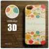 เคส iPhone 4 / 4s เคสแข็งพิมพ์ลายนูน สามมิติ 3D แบบ 5