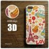 เคส iPhone 5 / 5s / SE เคสแข็งพิมพ์ลายนูน สามมิติ 3D แบบ 3