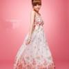 maxi dress ชุดเดรสยาวสายเดี่ยว งานแต่งงาน ผ้าชีฟอง พื้นสีขาว ลายดอกไม้ สม็อกอก ใส่ออกงานได้ สวยๆ Asia Street Fashion