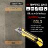 (มีกรอบ) กระจกนิรภัย-กันรอยแบบพิเศษ ขอบมน 2.5D OPPO F1 Plus ความทนทานระดับ 9H สีทอง