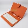 เคสคีย์บอร์ด สวยๆ แป้นพิมพ์ไทย-อังกฤษ Micro usb สำหรับแท็บเล็ต 7 นิ้ว -สีส้ม