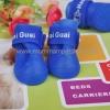 รองเท้าสุนัข รองเท้าแมว บูทยางสีน้ำเงิน (4 ข้าง)