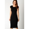 Jo.In Womens Cap Sleeve Jersey Bodycon Midi Womens Dresses Online M-XL (Black)