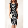 Sunweb Women Sexy Sleeveless Leopard Bodycon Stretch Knee CocktailMidi Pencil Women is Dresses Online Black