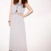 maxi dress ชุดเดรสยาวแฟชั่นแขนกุด เสื้อกล้าม คอกลม ผ้าคอตตอน ใส่เที่ยว ทำงาน ชิวๆ สีเทา Asia Street Fashion