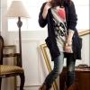 fashion เสื้อกันหนาว แฟชั่น สีดำ ขนปุย อุ่นๆ แฟชั่น น่ารักๆ ใส่เที่ยว ชิวๆ