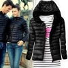 LALANG Warm Women Winter Long Sleeve Hooded Jacket Coat ParkaOvercoat Black