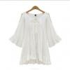 Cyber Women Sleeveless Net Yarn Vest Mini Women is Fashion Dresses (White)