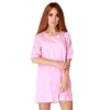 LALANG Elegant Short-sleeved Embroidered Casual Womens Dresses Online (Pink)