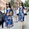 Flowers the Best Blue Dress Style Korea
