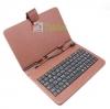 เคสคีย์บอร์ด สวยๆ แป้นพิมพ์ไทย-อังกฤษ USB สำหรับแท็บเล็ต 7 นิ้ว -สีน้ำตาล
