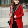 เสื้อกันหนาวไหมพรม พร้อมส่ง ตัวยาว สีแดง ลายเก๋ๆ มีฮูท ด้านในเป็นขนสัตว์สังเคราะห์ เนื้อนิ่ม น่ารักๆ