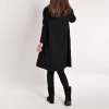 Ladies Long Sleeve Pockets V-Neck Loose Casual Cotton Pregnant MIniWomens Dresses Online Black