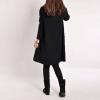 Ladies Long Sleeve Pockets V-Neck Loose Casual Cotton Pregnant MIniWomens Dresses Online Black