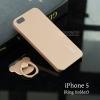 เคส iPhone 5 / 5S / SE เคสแข็งความยืดหยุ่นสูง (บางพิเศษ) พร้อม Ring Holder สีทอง