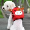 กระเป๋าเป้สุนัข กระเป๋าเป้แมว ลายหมูแดง