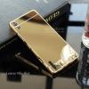 เคส Lenovo Vibe Shot เคสฝาหลัง + Bumper (แบบเงา) ขอบกันกระแทก สีทอง