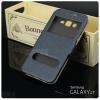 เคส Samsung Galaxy J7 เคสฝาพับ พร้อมช่องรูดรับสาย สีเทา