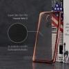 เคส Huawei Mate 8 เคสนิ่ม TPU ใส (ขอบเงา) สีโรสโกลด์