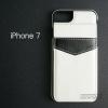 เคส iPhone 7 และ 8 เคส Bumper หุ้มหนัง (พร้อมช่องใส่บัตรพับได้มีที่ล๊อค) สีขาว