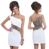 Women One-Strap Sequins Bridesmaid Gown White