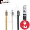 REMAX Metal Platinum - สายชาร์จระดับฟรีเมี่ยม Micro - USB