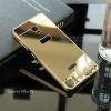 เคส Lenovo Vibe P1 เคสฝาหลัง + Bumper (แบบเงา) ขอบกันกระแทก สีทอง