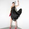 MAXI DRESS ชุดเดรสยาวผ้าชีฟอง เปิดไหล่ สีดำ ใส่ออกงาน สวย เซ็กซี่ ASIA STREET FASHION