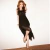 maxi dress ชุดเดรสยาวแฟชั่น แขนกุด ใส่ไปงานบายเนียร์ เซ็กซี่ ผ้าคอตตอน + ชีฟอง สีดำ ใส่ออกงานได้ สวยมาก Asia Street Fashion