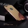 เคส iPhone 6 / 6s l เคสฝาหลัง + Bumper (แบบเงา) ขอบกันกระแทก สีโรสโกลด์ (แบบเงา CHECKED PATTERN)