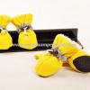 รองเท้าสุนัข รองเท้าแมว สีเหลือง (4 ข้าง)