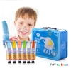 Finger Paint color Metal Box Set- Blue ชุดสี Finger paint กล่องเหล็ก สีฟ้า