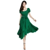 Azone O-Neck Loose Chiffon Womens Dresses Online (Green) - Intl
