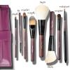 ชุด แปรงแต่งหน้า อุปกรณ์แต่งหน้า Cerro Qreen oak handle Sable brushes Black /Purple