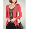 fashion เสื้อคลุมแฟชั่น แขนยาว สีแดง น่ารัก ใส่เป็นเสื้อคลุมเที่ยว ทำงาน สีสดใส น่ารัก Asia Street Fashion