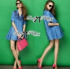 Lady Ribbon's Made Lady Rosalie Smart Chic Embroidered Denim Shirt Dress