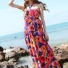 Maxi dress ชุดเดรสยาว พร้อมส่ง สีพื้นน้ำเงินลายดอกไม้สีสันสดใส สวยมากๆค่ะ เนื้อผ้า ice silk อย่างดี ใส่สบาย เนื้อผ้ามีความยืดหยุ่นได้ดีค่ะ