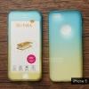 เคส iPhone 5 / iPhone 5s / iPhone SE เคสแข็งความยืดหยุ่นสูง (ด้านหน้า/ด้านหลัง) สีสันสดใส (สีฟ้า/สีเหลือง)