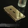 เคส Vivo X6 l เคสฝาหลัง + Bumper (แบบเงา) ขอบกันกระแทก สีทอง
