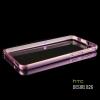 เคส HTC Desire 826 ขอบกันกระแทก Bumper (สีชมพูอ่อน / ขลิบทอง)