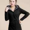 เสื้อกันหนาว พร้อมส่ง สีดำ ซิปหน้า มีฮูท แต่งซับในด้วยผ้าขนสัตว์ สุดเท่ห์ๆ อินเทรนสุดๆ สำหรับหนาวนี้