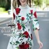 Dolce Gabbana roses dress Odee&Cutie Daily Fashion 2015